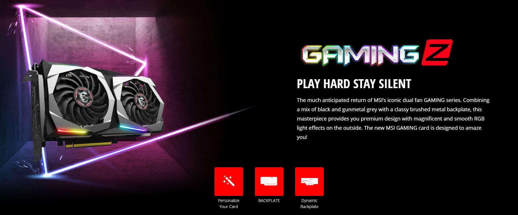 Card màn hình MSI GTX 1660 Super GAMING Z PLUS