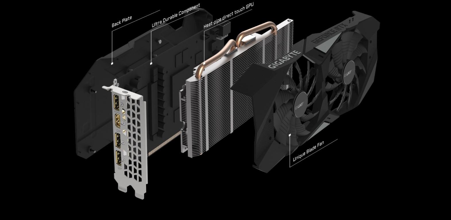 Card màn hình Gigabyte RTX 2060 WINDFORCE-6GD