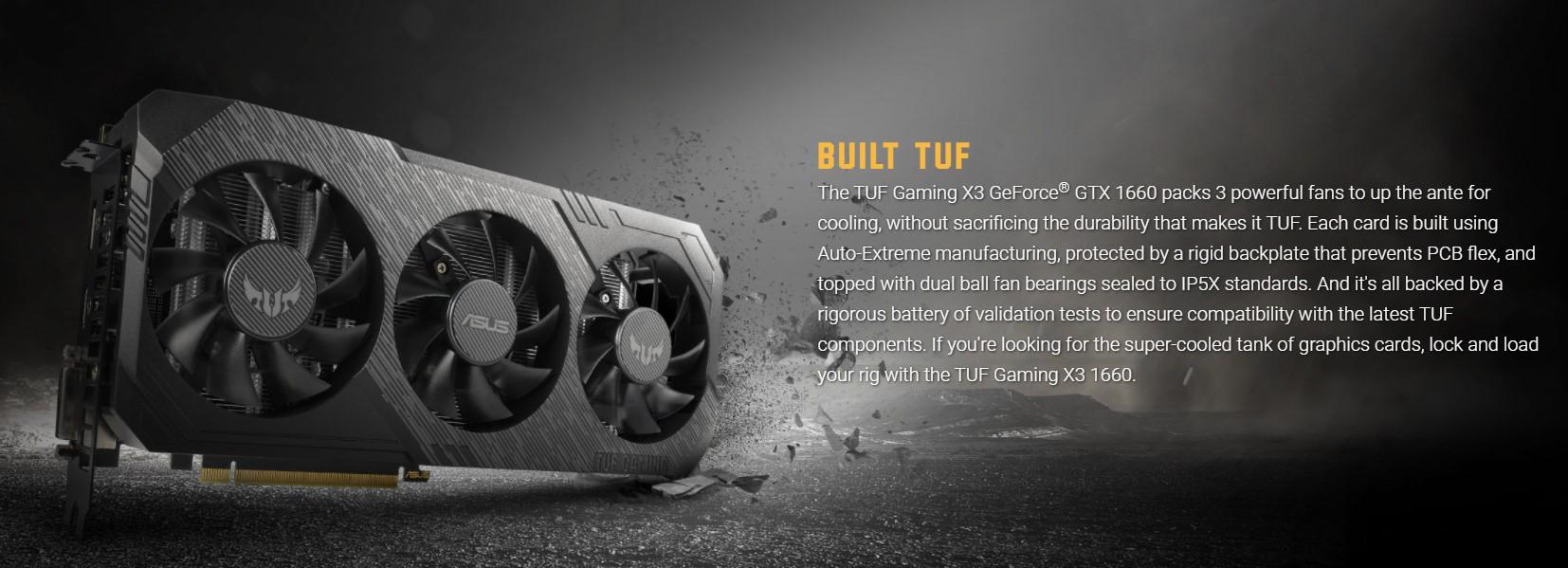 Card màn hình Asus TUF3 GTX 1660 A6G