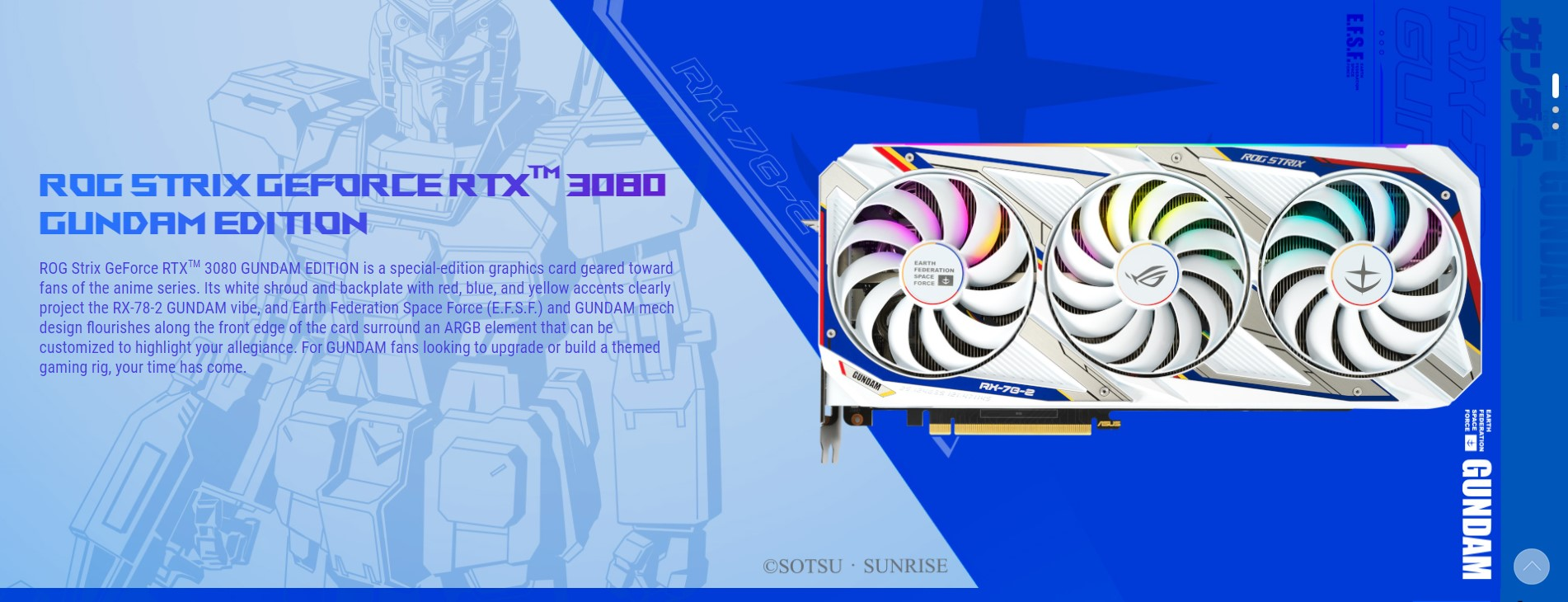 Card màn hình ROG STRIX RTX3080-O10G-GUNDAM