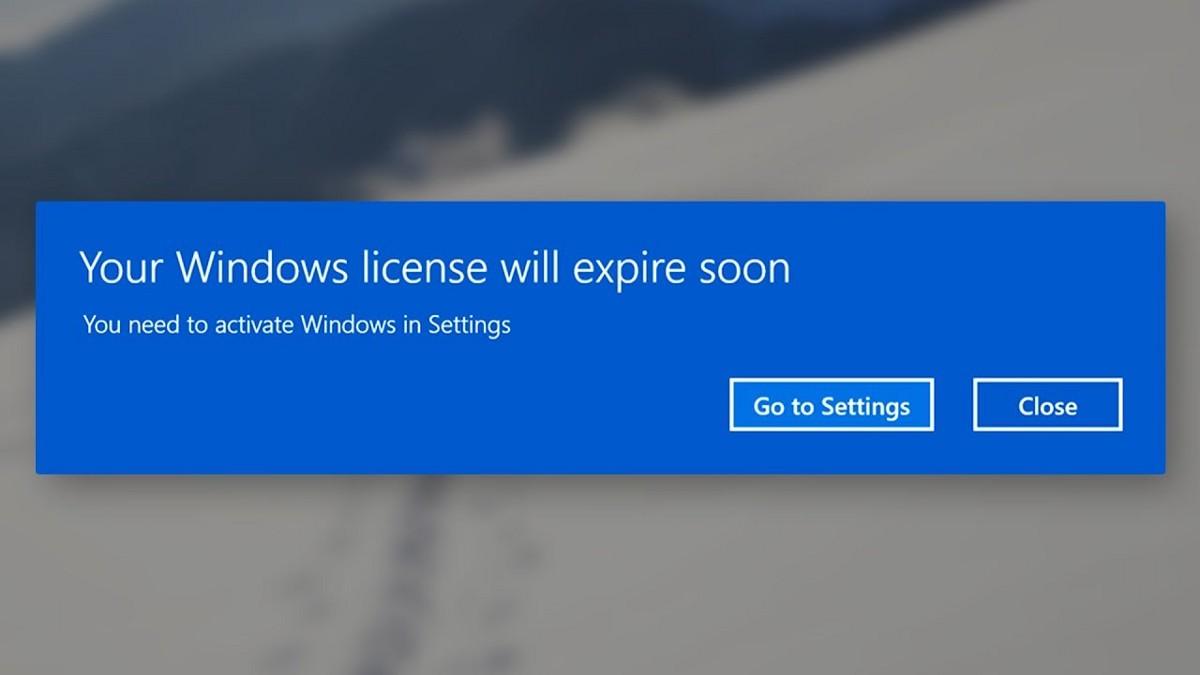 sửa lỗi Your Windows license will expire soon win 10