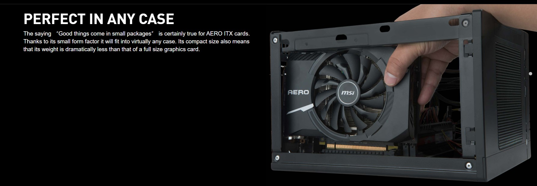 Card màn hình MSI GT 1030 AERO ITX 2GD4 OC