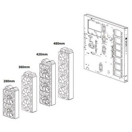 Thông số Vỏ Case Thermaltake Core P5 Tempered Glass Snow (Mid Tower/Màu Trắng)
