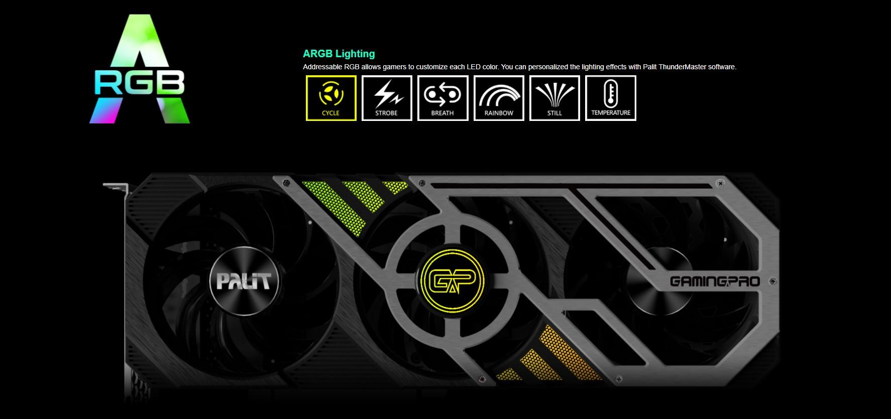 Card màn hình Palit RTX 3070 Ti GamingPro 8G