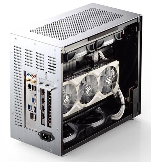 Case Jonsbo V10-G  Silver (Mini Tower/Màu Bạc) giới thiệu  2