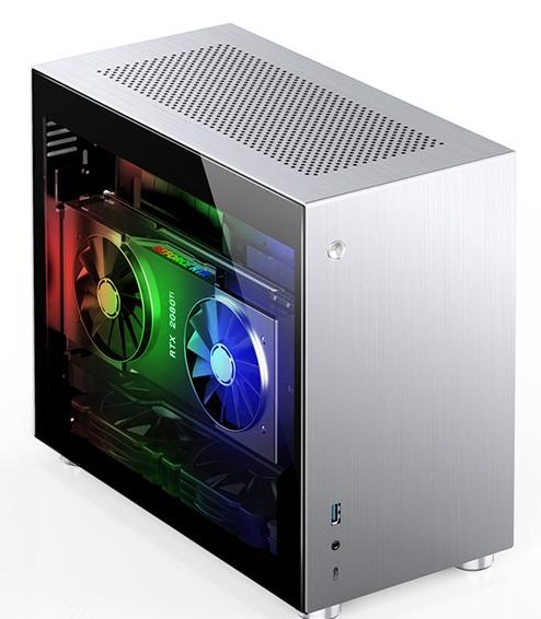 Case Jonsbo V10-G  Silver (Mini Tower/Màu Bạc) giới thiệu 3