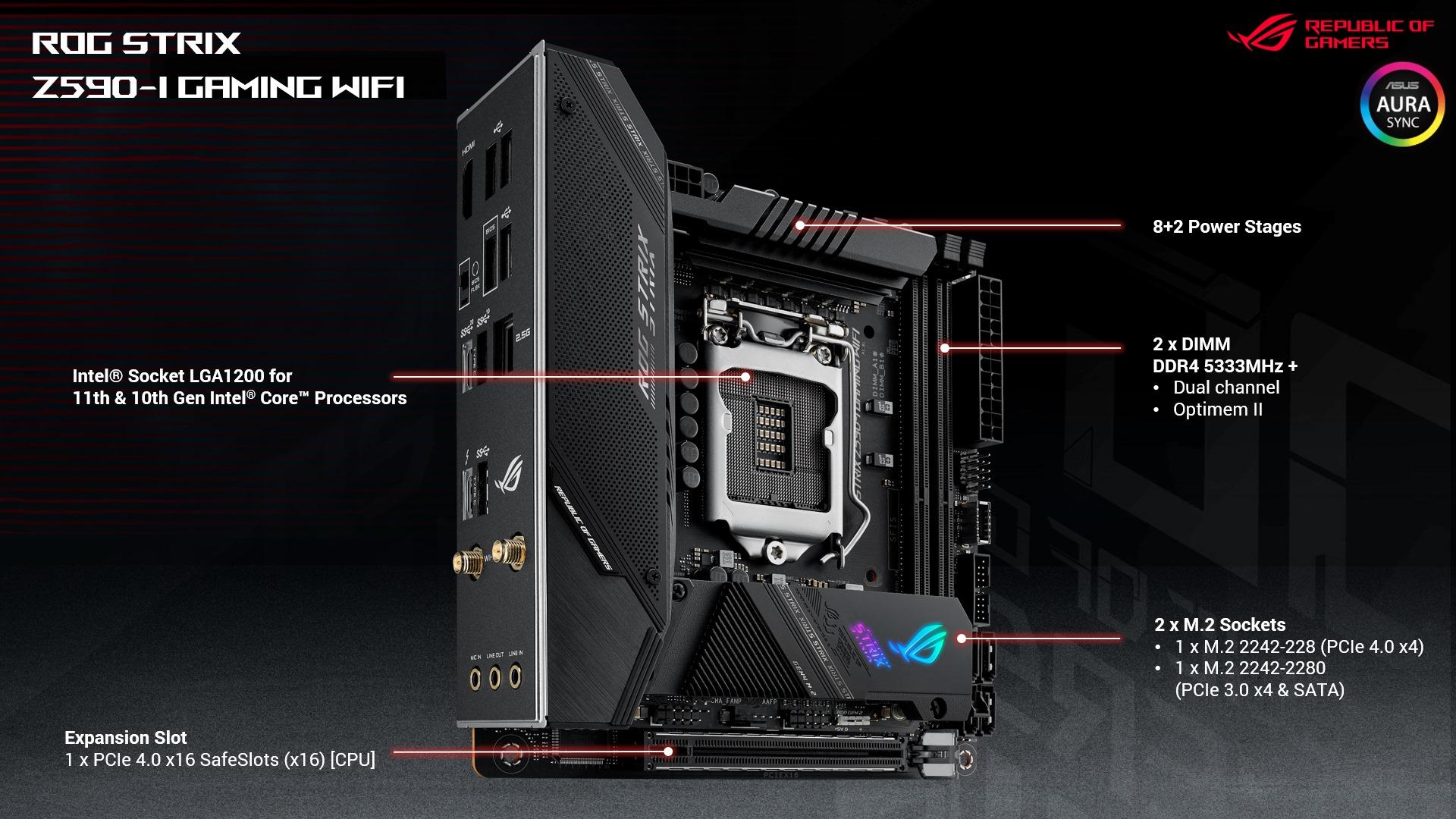 Mainboard ASUS ROG STRIX Z590-I GAMING WIFI