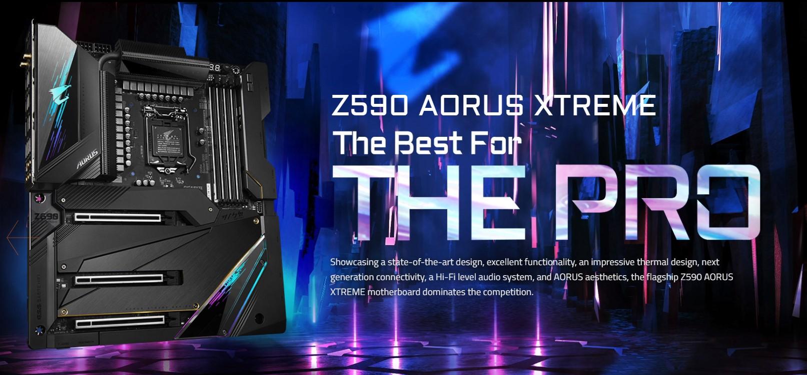 Mainboard Gigabyte Z590 AORUS XTREME