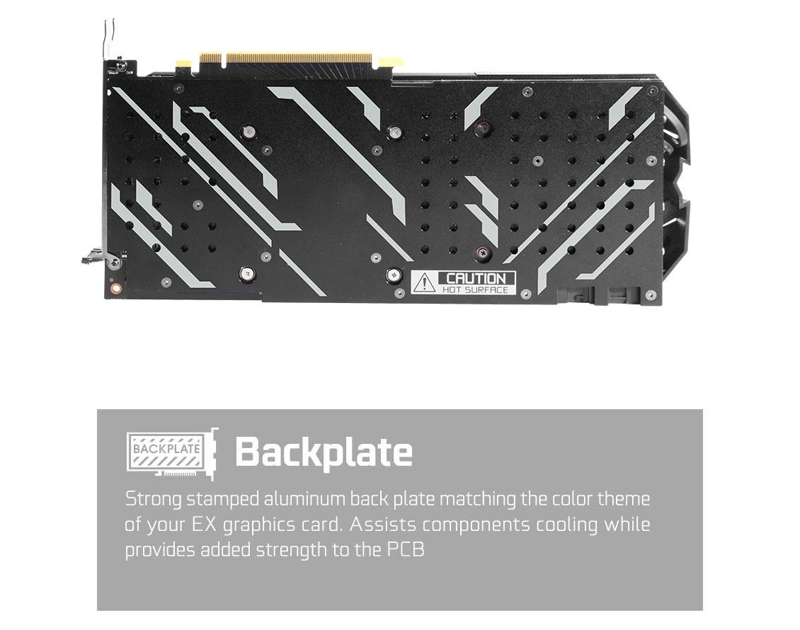 Backplate của RTX 2060 được làm bằng nhôm