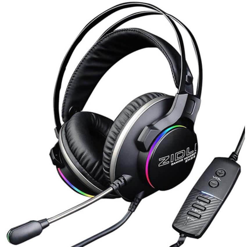 Tai nghe Gaming Zidli ZH27 Virtual 7.1 USB Black Led 7 màu