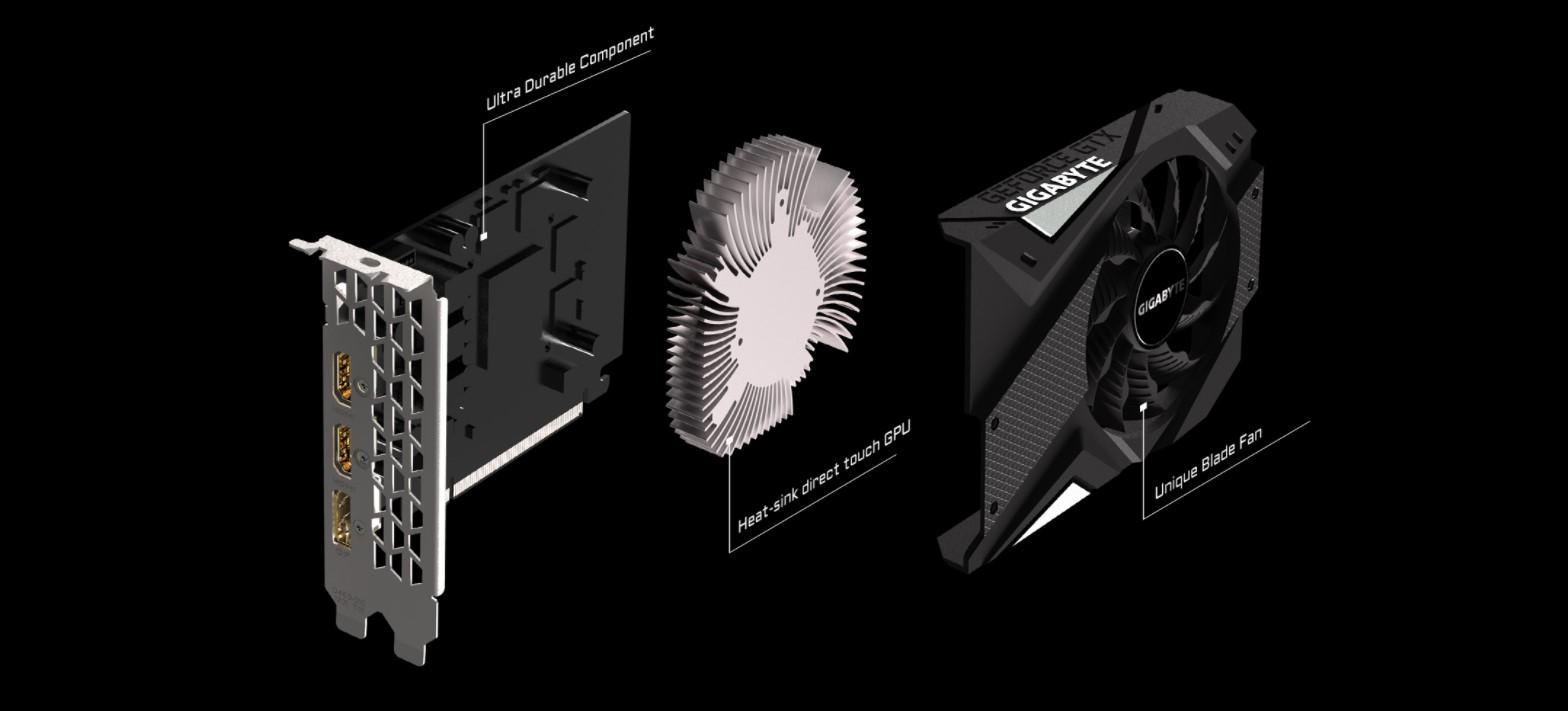 Card màn hình Gigabyte GTX 1650 Mini ITX OC-4G