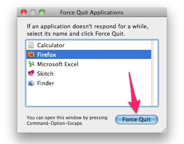 Cách thoát ứng dụng bị treo trên Macbook