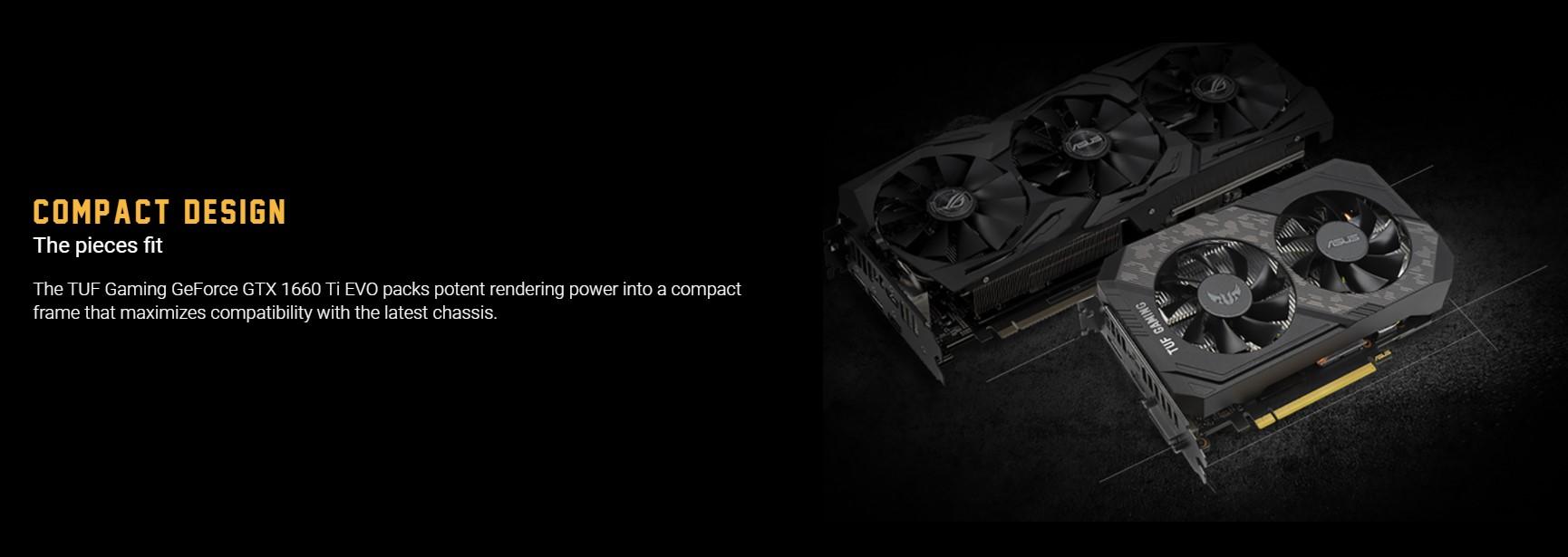 Card màn hình Asus TUF GTX 1660 Ti-6G-EVO-GAMING