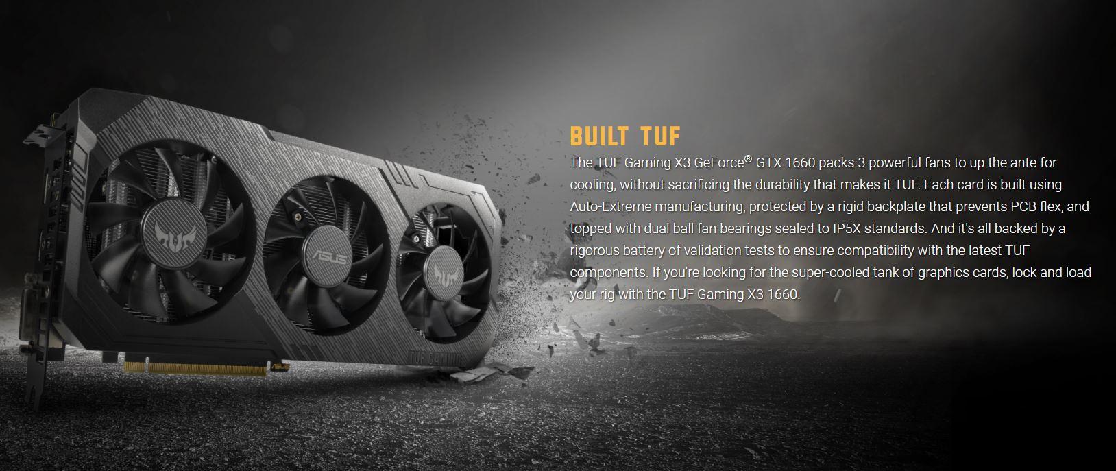 Card màn hình Asus TUF3 GTX 1660 - 6G GAMING
