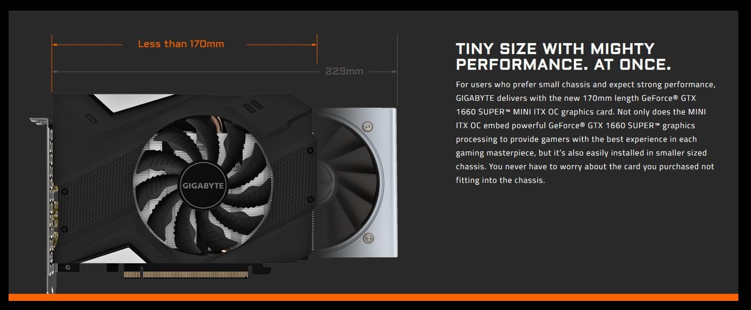 Card màn hình Gigabyte GTX 1660 Super Mini ITX-6GD
