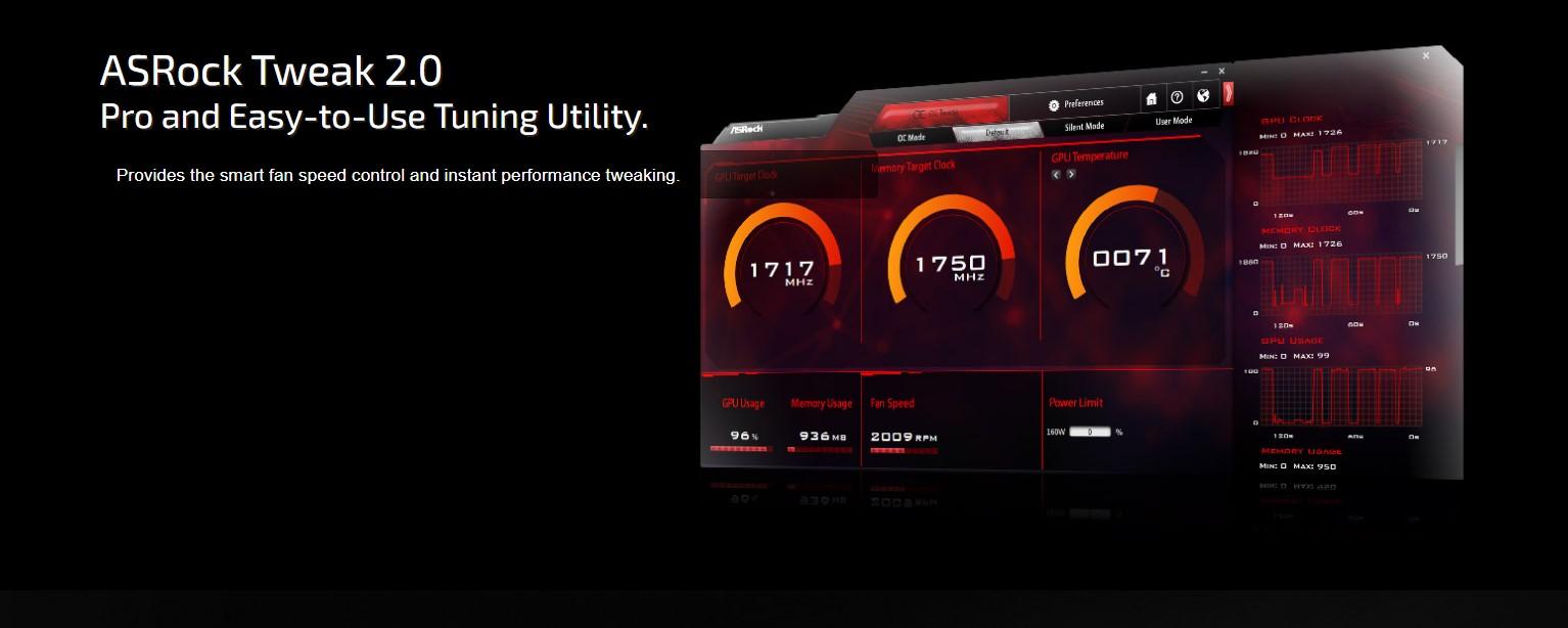 Card màn hình Asrock RX 6700 XT Phantom Gaming D-12GB OC
