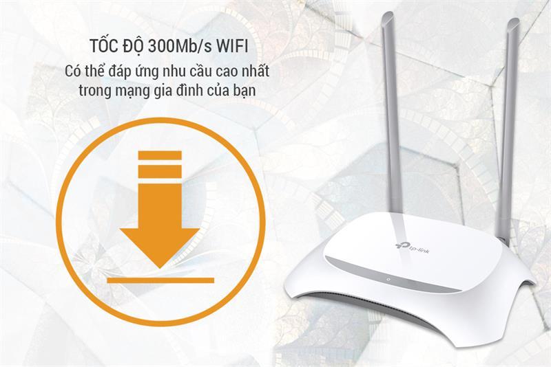 Bộ phát wifi TP-Link TL-WR840N Wireless N300Mbps 1