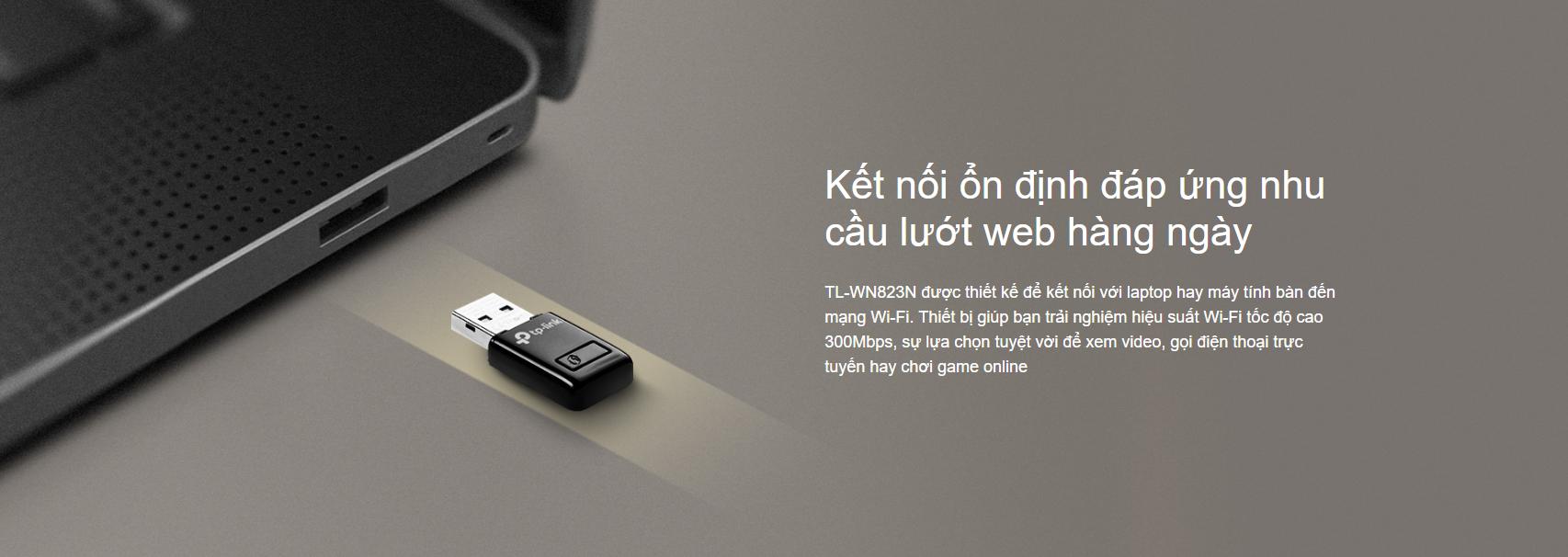 Card mạng không dây USB TP-Link TL-WN823N Wireless N300Mbps 1