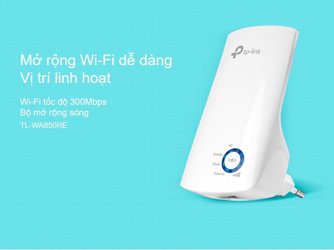 Bộ kích sóng wifi TP-Link TL-WR850RE Tốc độ N300Mbps
