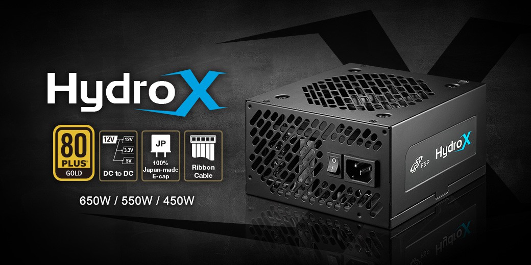 Nguồn FSP Power Supply HYDRO X Series HGX550 Active PFC (80 Plus Gold/Màu Đen) giới thiệu 1