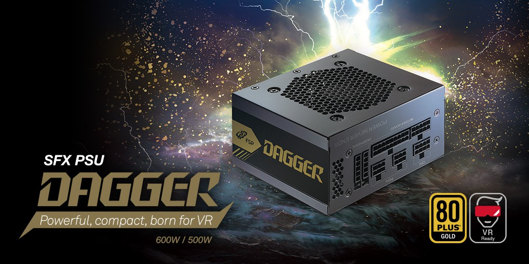 Nguồn FSP Power Supply DAGGER Series SDA600 Active PFC (80 Plus Gold/Full Modular/Micro ATX/Màu Đen) giới thiệu 1