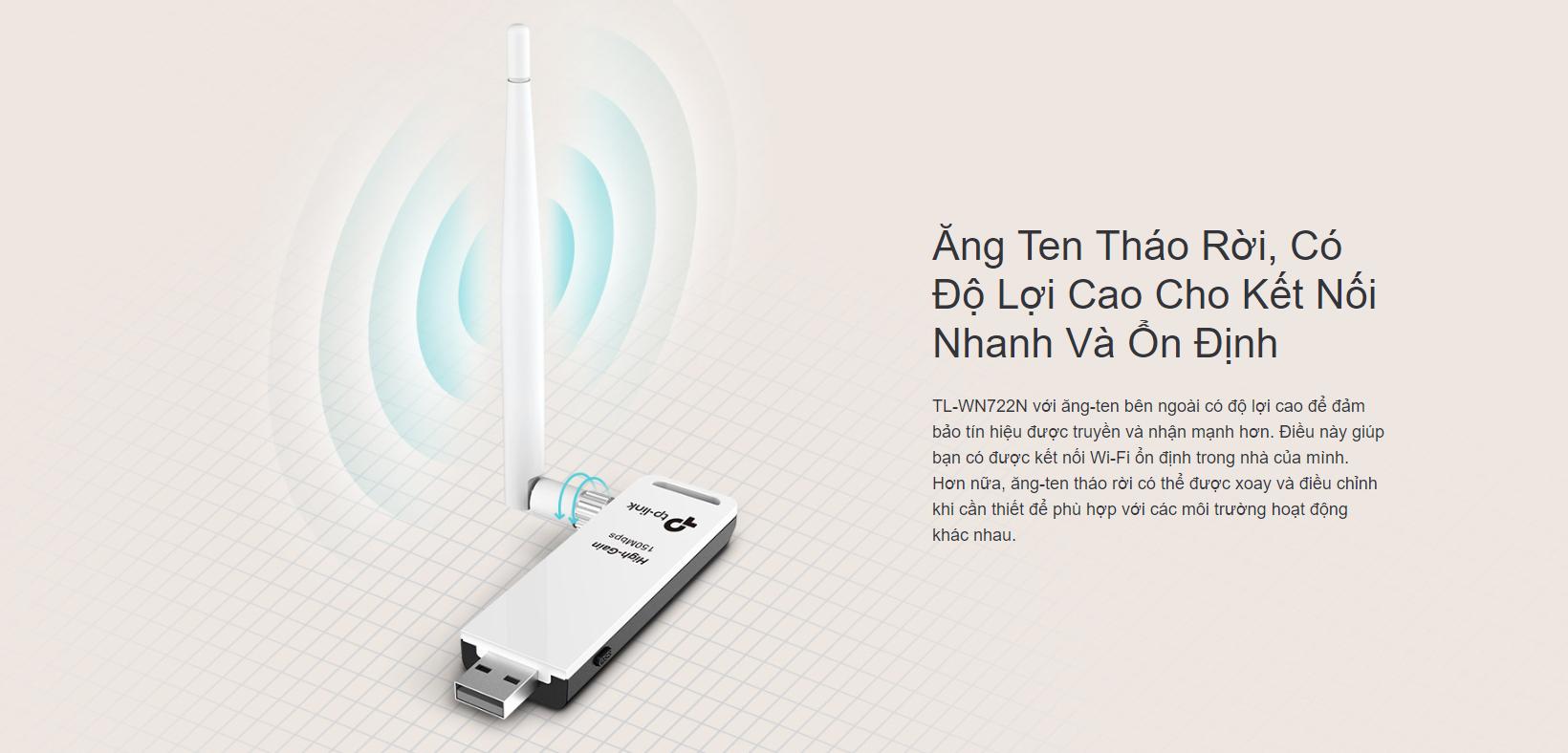 Card Mạng TPlink TL-WN722N USB Wireless