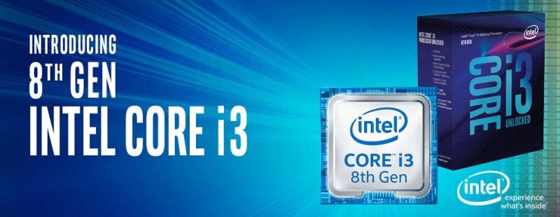 1151 CPU Intel Core i3-8100