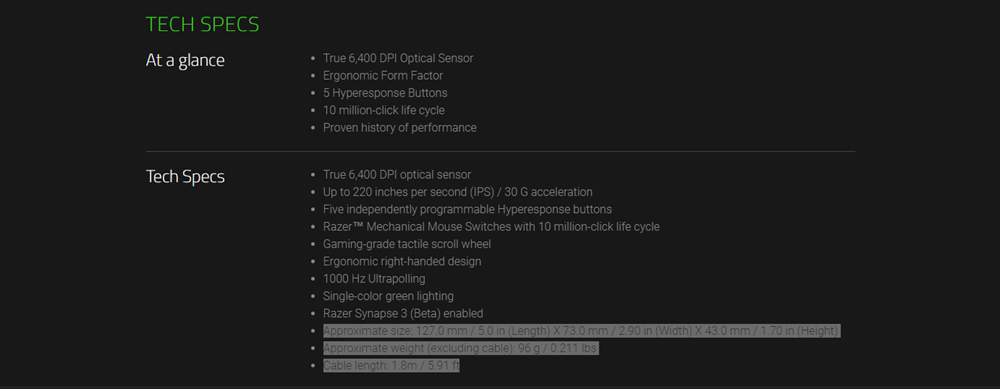 Chuột chơi game Razer DeathAdder Essential Right-Handed (RZ01-02540100-R3M1) 1