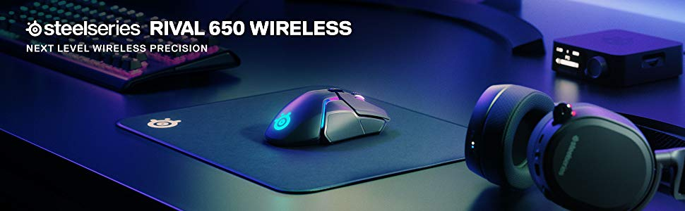 Chuột chơi game SteelSeries Rival 650 Wireless (62456)