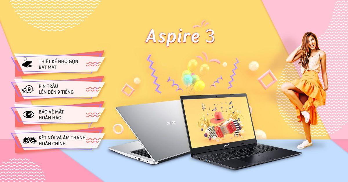 Acer Aspire 3 A315 56 59XY là chiếc laptop lý tưởng để bạn làm việc