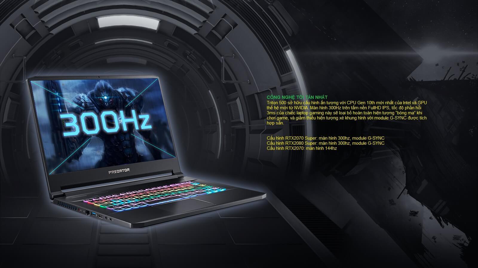 Laptop Acer Gaming Predator Triton 500-1