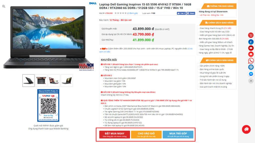 Hướng dẫn mua hàng online tại Hanoicomputer