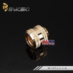 Fitting Bykski Hardtube OD14 Luxury Gold.