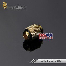 Fitting Bykski Male-Male Rotary Luxury Gold.