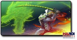 Mousepad Custom Overwatch Genji Dragon 800x300mm