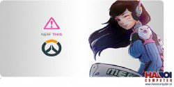 Mousepad Custom Overwatch DVA 3 800x300mm.
