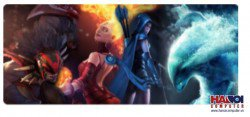 Mousepad Custom Dota2 Four Heroes  800x300mm.