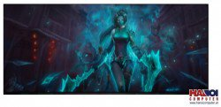 Mousepad Custom LOL Emerald Akali 800x300mm.